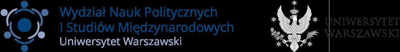 Logotypy Wydziału Nauk Politycznych i Studiów Międzynarodowych oraz Uniwersytetu Warszawskiego