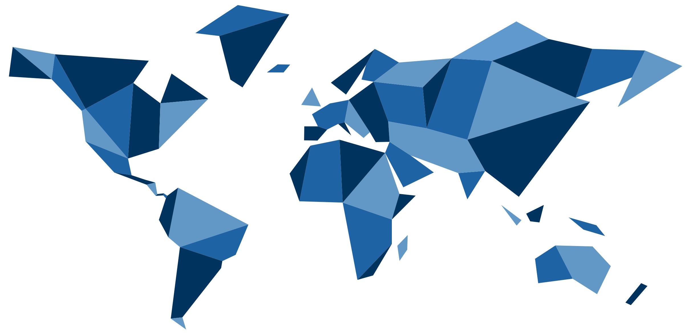Mapa Świata z figur geometrycznych