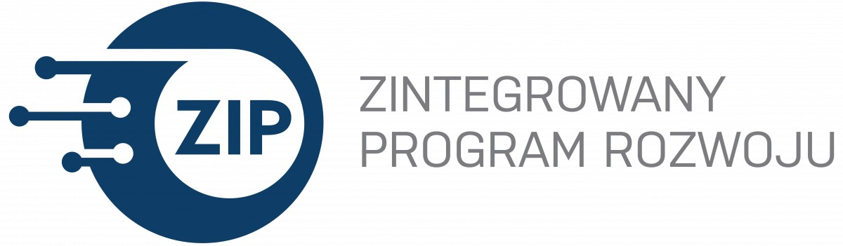 Logotyp Zintegrowanego Programu Rozwoju granatowy