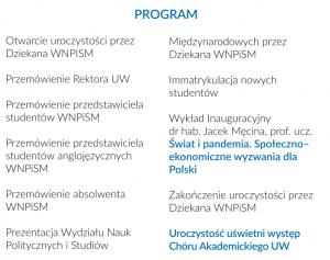 Program Inauguracji