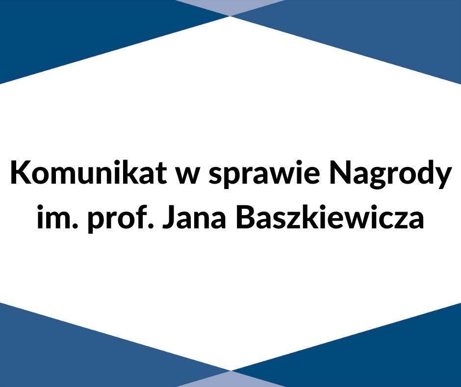 Nagroda im Jana Baszkiewicza
